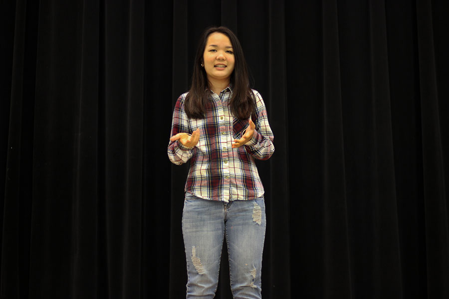 Senior+Dawt+Sung+speaks+about+her+passions+on+Wednesday%2C+May+10.+