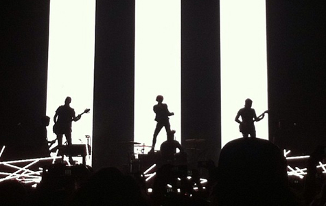Paramore opens up last night's show in San Diego. The trio returns to North Texas this weekend.