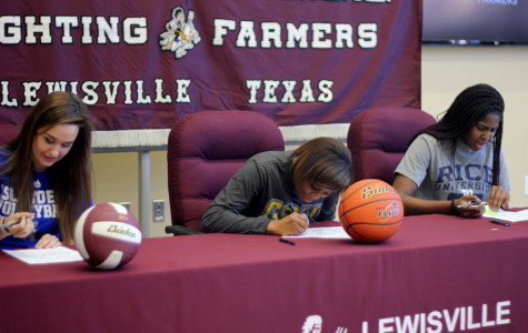 3 athletes sign for college scholarships