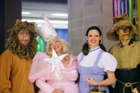 David True, Donna Latson, Jessica True, and Chuck Andrews dress as the characters from The Wizard of Oz at the  Grand Ball on March 29.