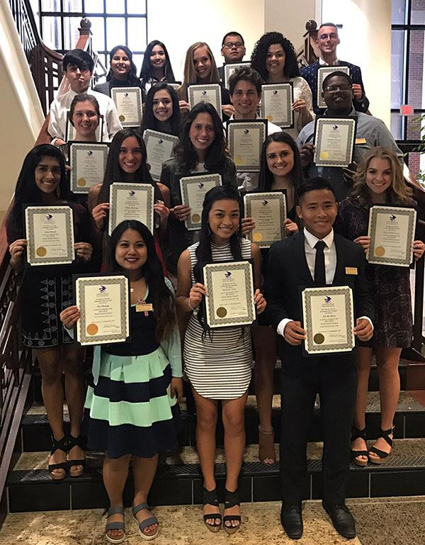 Members+of+Lewisville+Youth+Action+Council+proudly+display+their+certificates.+Photo+courtesy+of+Student+Council.