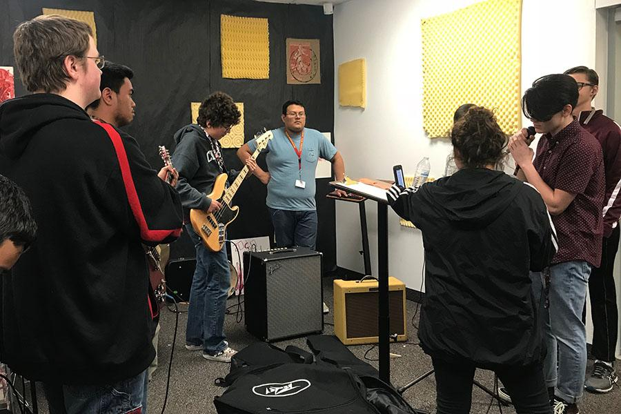 Members of Killough's School of Rock club meet during block lunch every Friday.