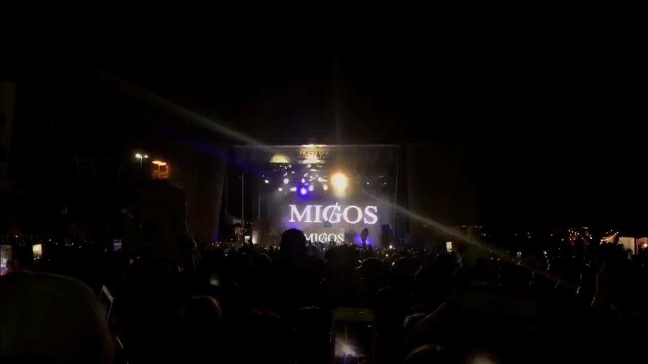 The crowd enjoys a performance from Migos on Friday, May 4 at the Fair Park grounds in Dallas.