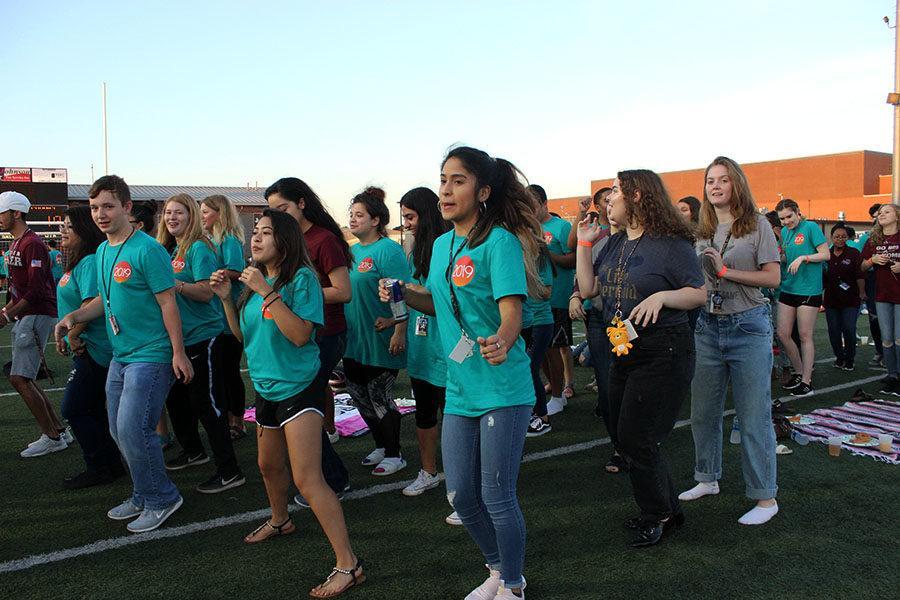 Seniors dance to