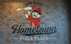Pizza Inn's logo is displayed when coming into the buffet.