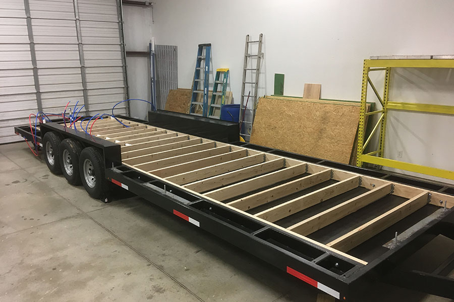 English teacher Madelyn Johnson's tiny trailer is currently being built.