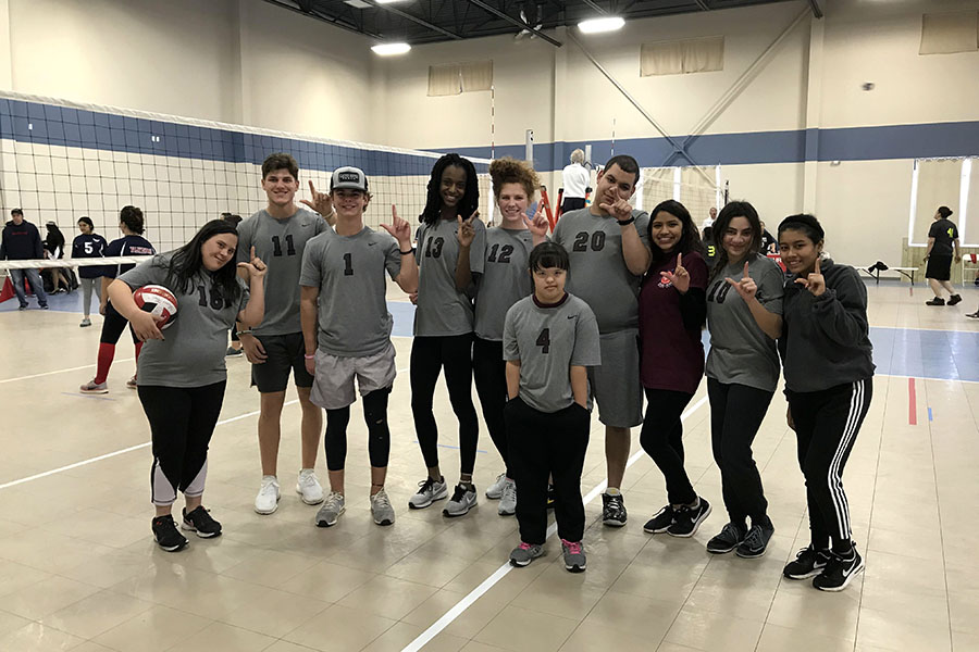 The Unified volleyball team competed in McKinney on Saturday, Dec. 15. Courtesy of Bailey Fry.