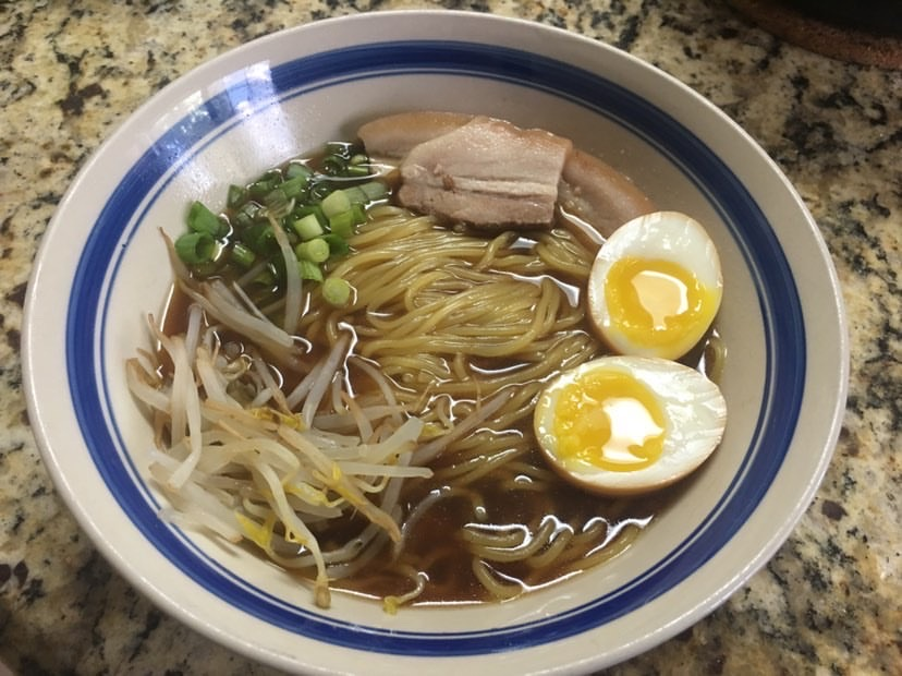 A+bowl+of+Shoyu+Ramen%2C+one+of+senior+Erick+Nguyen%27s+favorite+dishes+to+both+cook+and+eat%2C+sits+on+a+counter.