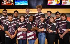 The bowling team poses for the 2019-2020 team photo. Courtesy of Portia Dowell-Simmons.