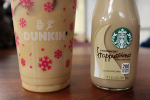 Two staffers compare the two most prominent coffee chains.