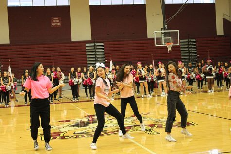 K-pop club president Senior Christine Ngo and her group perform at one of last year