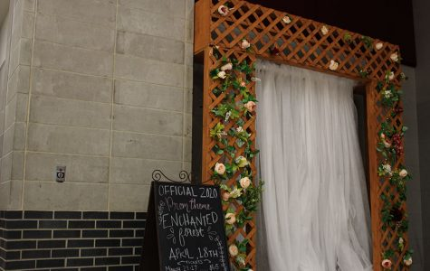 The 2020 prom theme of Enchanted Forest is displayed on Tuesday, Jan. 14 during A-block lunch.