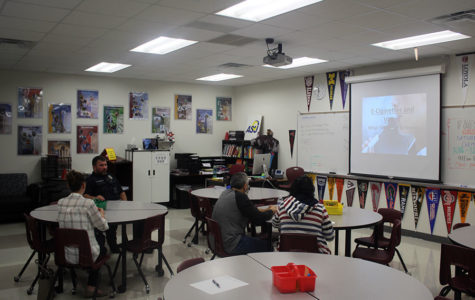 Parents settle in before the Farmer Focus presentation about vaping on Wednesday, Oct. 23.