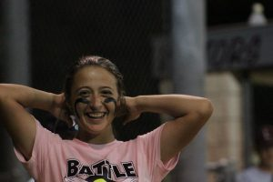 Madeline smiles during last year's Battle of the Bats.